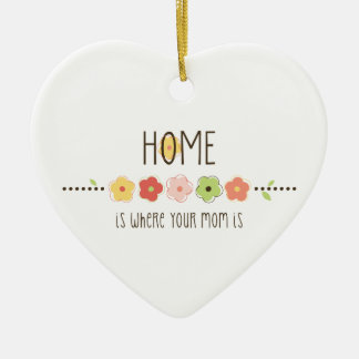 Home Is Where Your Mom Is Ceramic Ornament