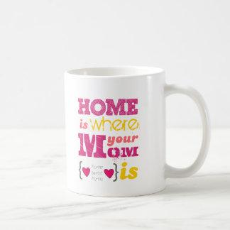 Home is where your mom is coffee mug