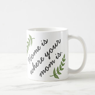 Home is where your mom is mother's day gift modern coffee mug