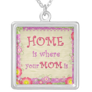 Home Is Where Your Mom Is Necklace