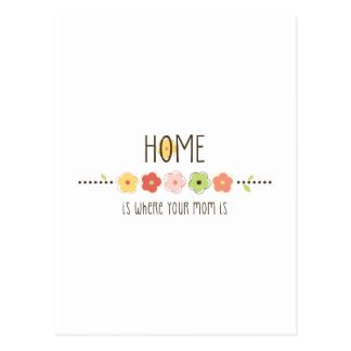 Home Is Where Your Mom Is Postcard