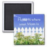 Home is Where Your Mom Is Quote Magnet