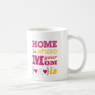 Home is where your mom is taza clásica