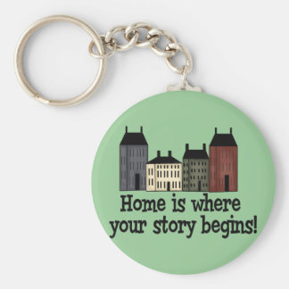 Home Is Where Your Story Begins! Basic Round Button Keychain