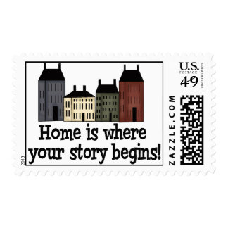 Home Is Where Your Story Begins! Postage Stamp
