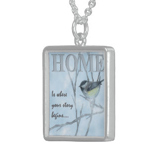 Home Is Where Your Story Begins Sterling Silver Necklace