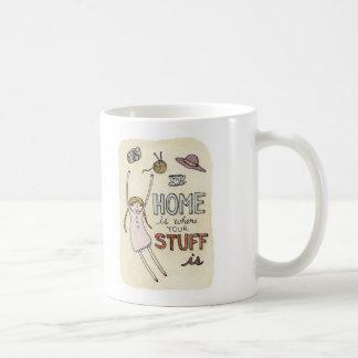 Home is Where Your Stuff is Classic White Coffee Mug