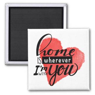Home is Wherever   Heart Magnet