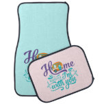Home is Wherever I'm with you - Cute Retro Camper Car Floor Mat