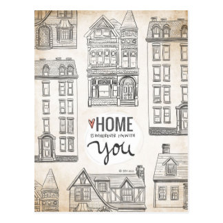 Home is wherever I'm with You. Postcard
