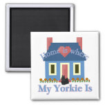 Home is Yorkshire Terrier Magnets