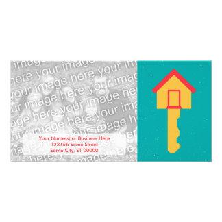 home key custom photo card