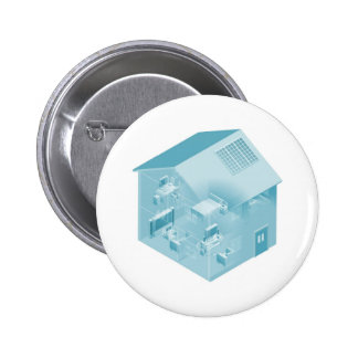Home Local Area Network House Pinback Button