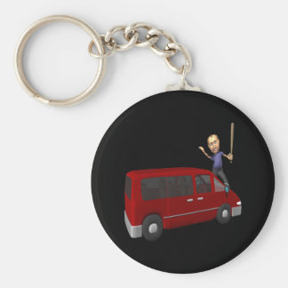Home Loss Basic Round Button Keychain