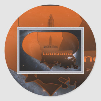 Home Louisiana, Home Louisiana Classic Round Sticker