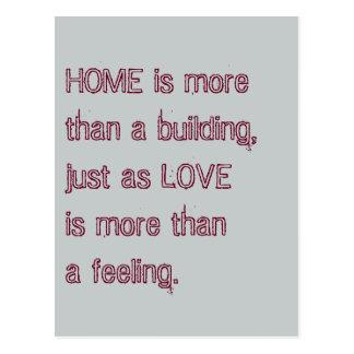 Home LOVE postcard