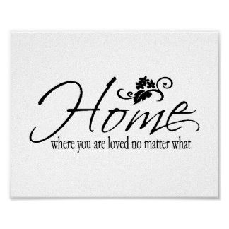 Home & Love Quote Poster