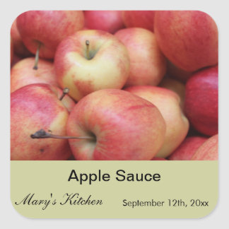 Home made apple sauce jars labels