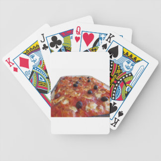Home made baked pasta on white background bicycle playing cards