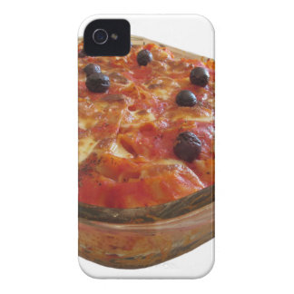Home made baked pasta on white background iPhone 4 Case-Mate case