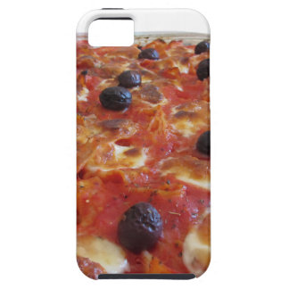 Home made baked pasta on white background iPhone 5 cases
