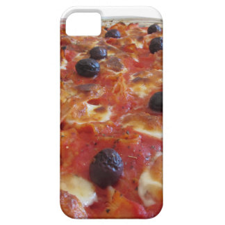 Home made baked pasta on white background iPhone 5 covers