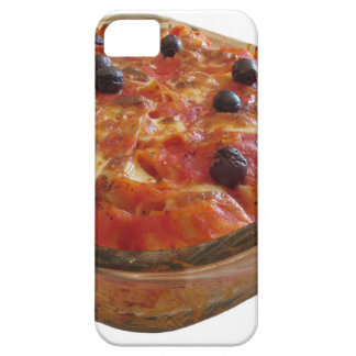 Home made baked pasta on white background iPhone SE/5/5s case