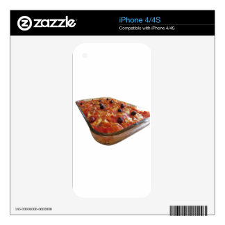 Home made baked pasta on white background skins for the iPhone 4S