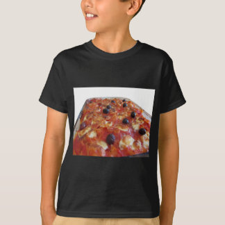 Home made baked pasta on white background T-Shirt