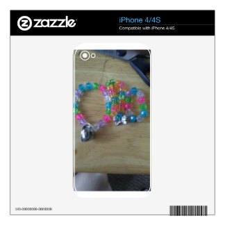 home made beaded braclets skin for the iPhone 4