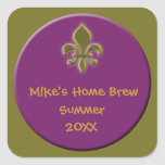 Home Made Beer or Wine Labels Square Sticker
