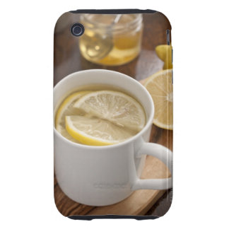 home made cold and flu remedy; lemons and honey tough iPhone 3 cover