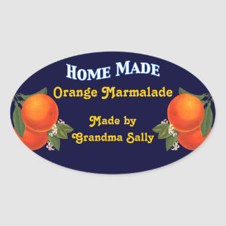 Home Made Custom Orange Canning Stickers