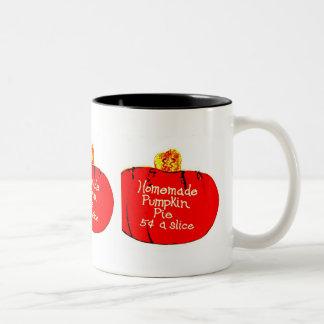home made pumpkin, home made pumpkin, home made... Two-Tone coffee mug