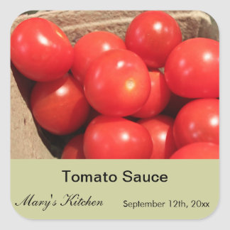 Home made tomato sauce bottle labels