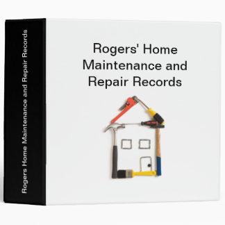 Home Maintenance and Repair Binder