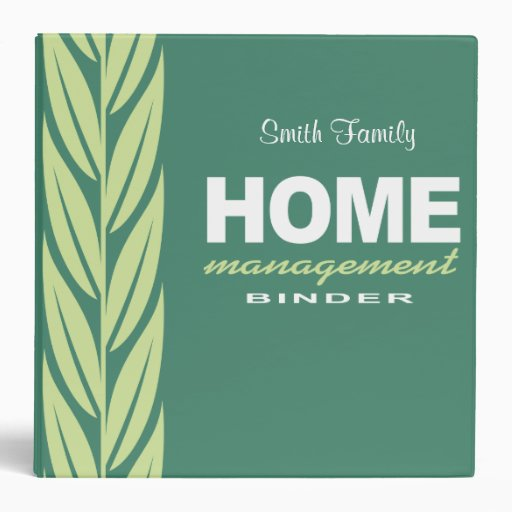 Home management modern personalized binder