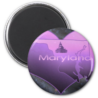 Home Maryland 2 Inch Round Magnet
