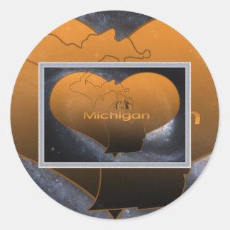 Home Michigan, Home Michigan Classic Round Sticker