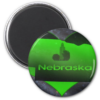 Home Nebraska 2 Inch Round Magnet