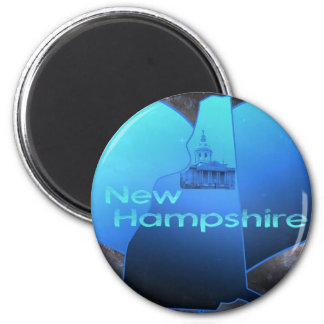 Home New Hampshire 2 Inch Round Magnet