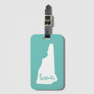 Home New Hampshire Custom Color Luggage Tag