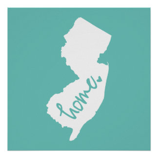 Home New Jersey Custom Color Poster