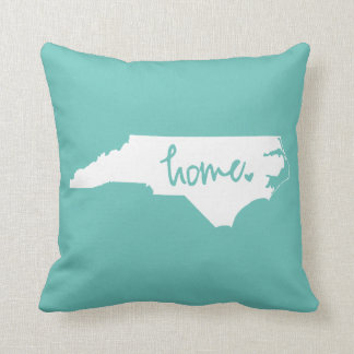 Home North Carolina Custom Color Throw Pillow
