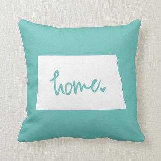 Home North Dakota Custom Color Throw Pillow