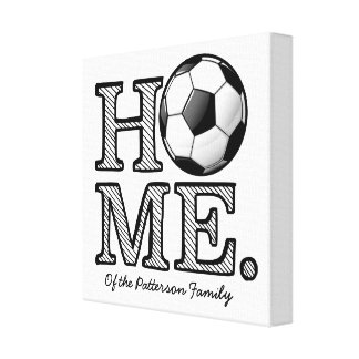 Home of a Soccer Fan  Housewarming Canvas Print