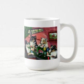 Home of Aussies 4 Dogs Playing Poker Coffee Mug