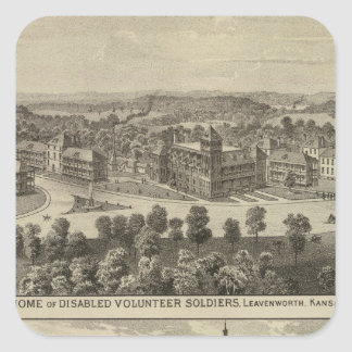 Home of Disabled Volunteer Soldiers Square Sticker