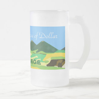 Home OF dollar Frosted Glass Beer Mug