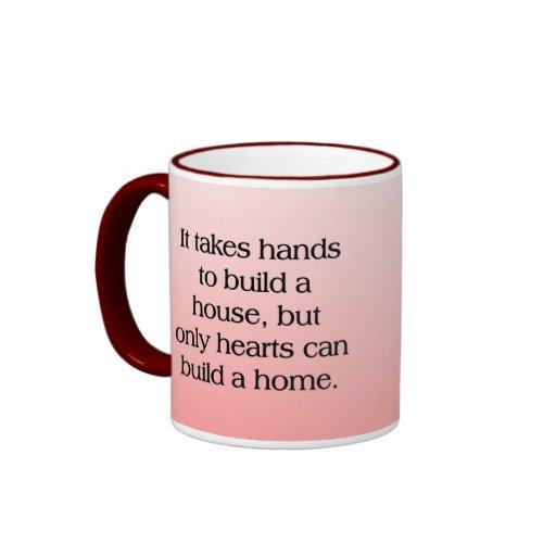 Home of Hearts Ringer Coffee Mug